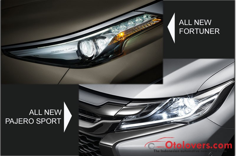 Sekilas All  New Pajero Sport vs All New Fortuner 2016