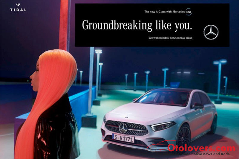 Mercedes-Benz gandeng Nicki Minaj untuk iklan A-Class baru