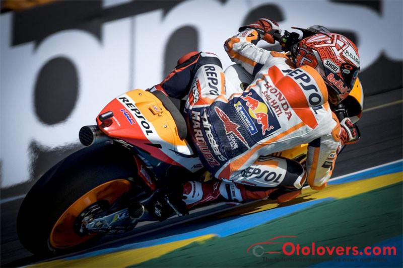 Marc Marquez memimpin dalam FP1 MotoGP Prancis