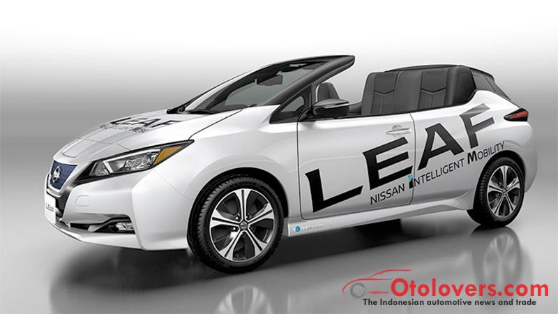 Nissan pamer Nissan LEAF versi terbuka