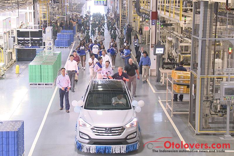 Hyundai mulai produksi Santa Fe 2019 di Alabama